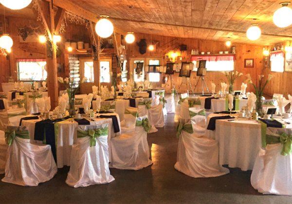 Salle de réception pour mariage